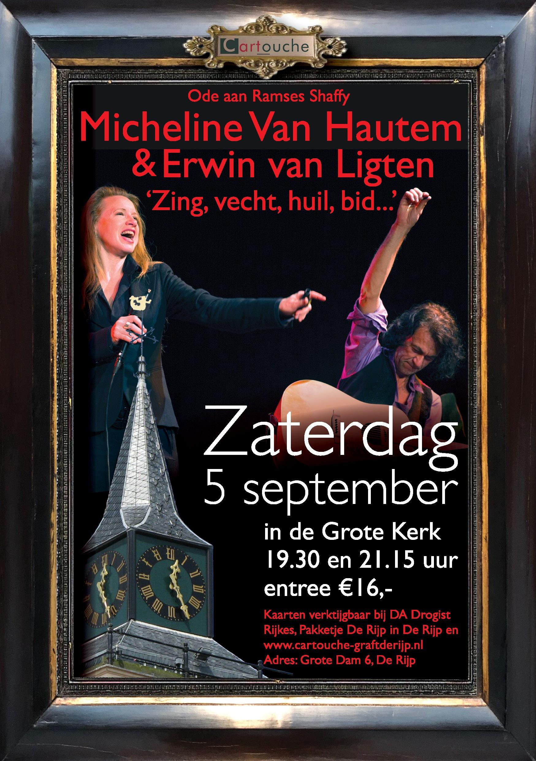 Micheline Van Hautem en Erwin van Ligten Zing, vecht, huil, bid…. 5 september 2020